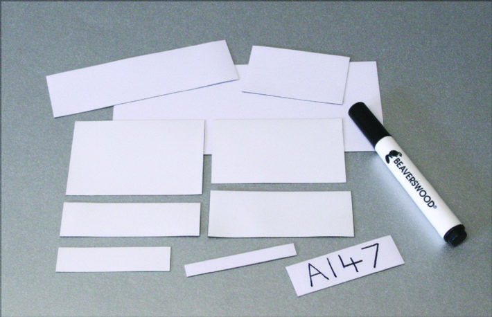 Magnetic Dry Wipe Labels