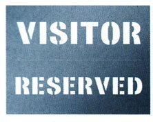 Visitor / Reserved Stencil